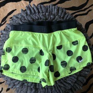 Neon Polka Dot Nike Running Shorts